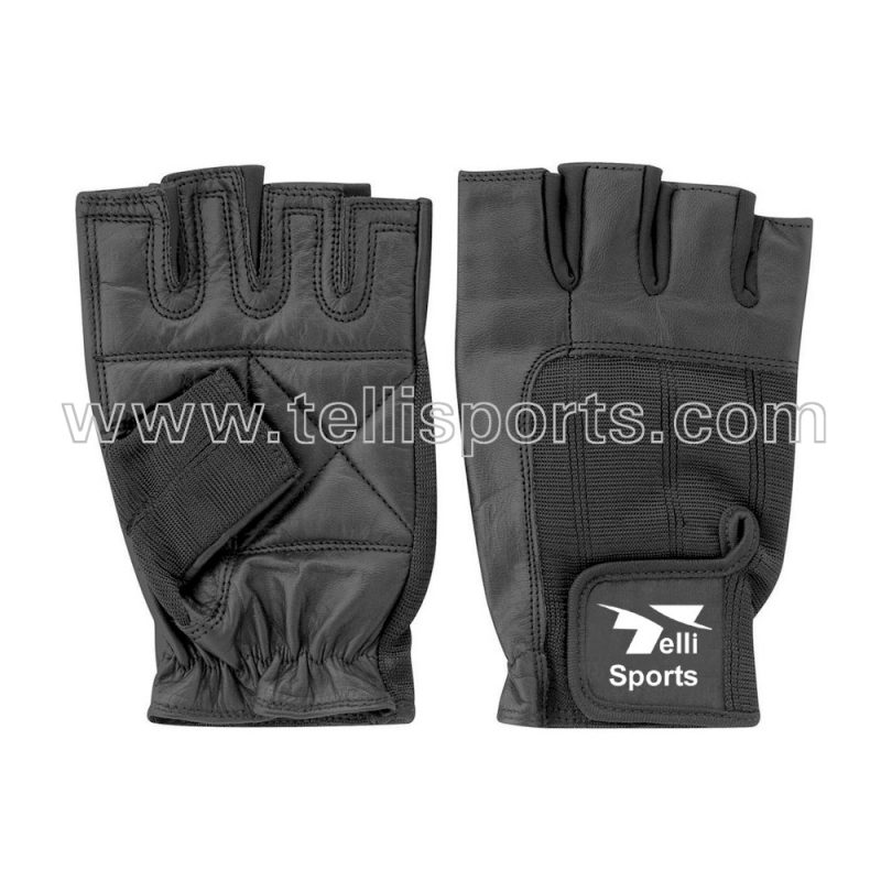 100% Pure Leather Fitness Gloves for Men & Women