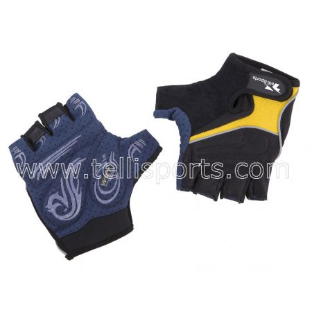Bike Cycling Gloves Shockproof Gel Pads and Extra Grip Leather Palm - Half Finger Glove