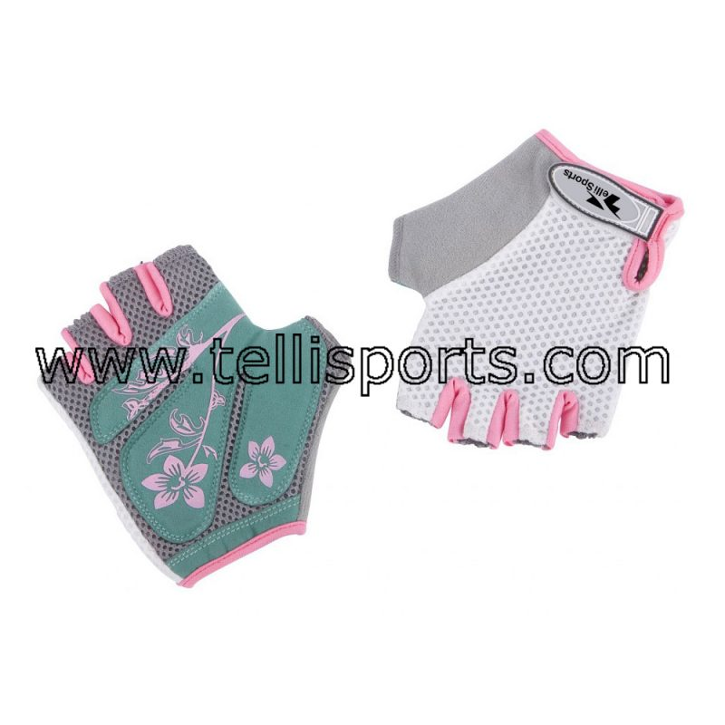 Cotton Mesh Ladies Cycling Gloves