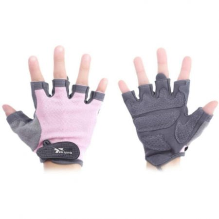 black and pink Paired Body building & Gym Weightlifting Training Half Finger Gloves for Women