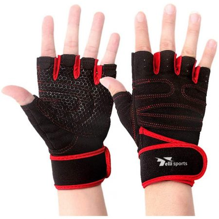 Anti-Slip Silica Gel Grip Weight Lifting Gloves