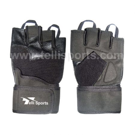 Men's Pro Fitness Training Gloves with Wrist Strap
