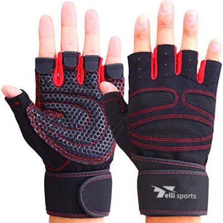 Gym Weight Lifting & Body Building Half Finger Workout Gloves For Men