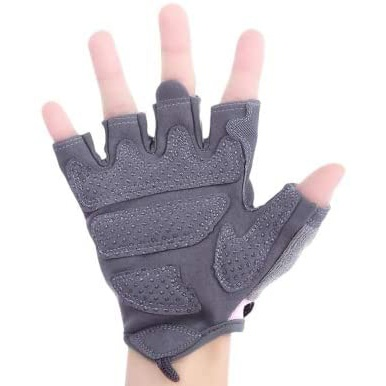 Paired Body building & Gym Weightlifting Training Half Finger Gloves for Women black
