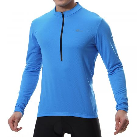 Cycling & Bike Jersey Long Sleeve with 3 Rear Pockets - Moisture Wicking, Breathable, Quick Dry Biking Shirt