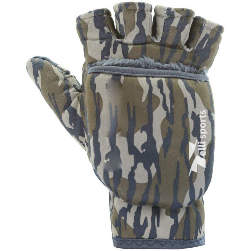 Men's Harvester Flip Mitt Hunting gloves, Mossy Oak Bottomland, Large X-Large