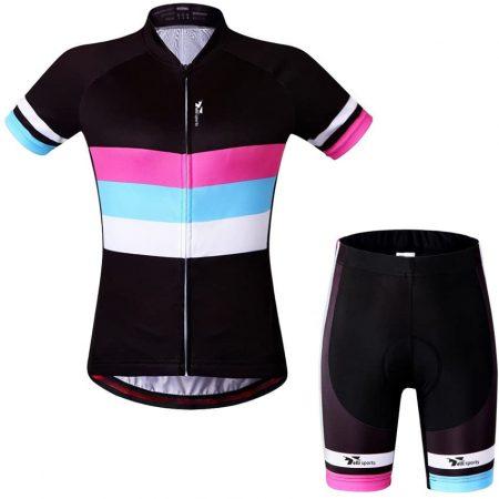 Women Short Sleeve Cycling Jersey 4D Gel Padded