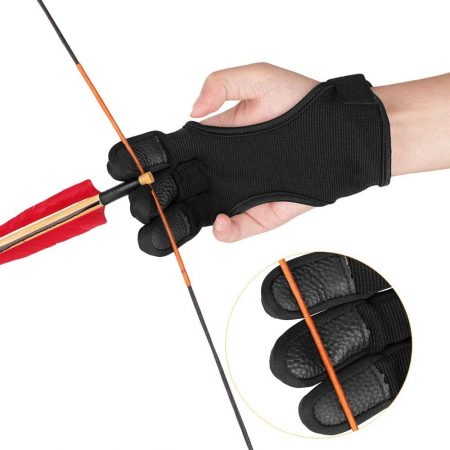 Adult Archery Gloves Finger Protector Hunting Gloves-Shooting Arrow Bow Archery Protective Gear Accessories
