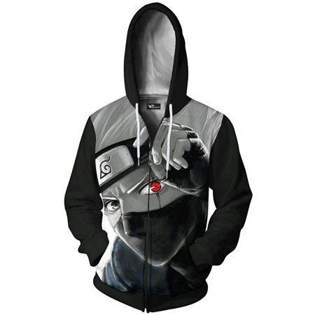 Men 3D Printed Hoodie ZipPullover Thin Hooded Sweatshirt