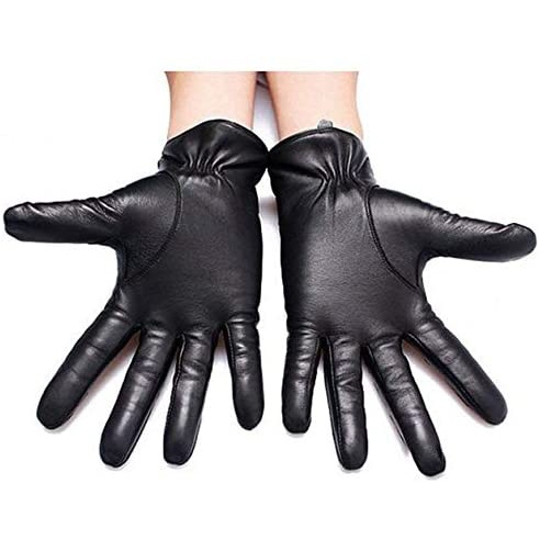 Warm Lined Leather Gloves Comfortable For Skiing, Cycling, Driving & Riding