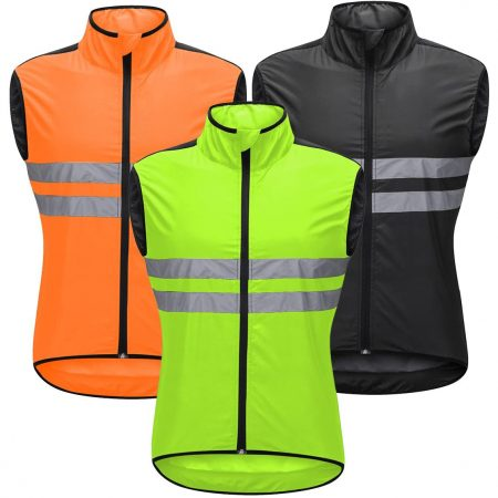 High Visibility Reflective Cycling Vest- Sleeveless Reflective Bicycle Gilet