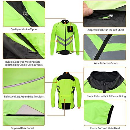 High Visibility Cycling Vest With Front Pocket - Sleeveless Reflective Bicycle Gilet