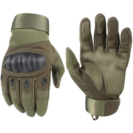 Military Tactical Gloves - Rubber Hard Knuckle Outdoor - Full Finger Touch Screen Gloves for Men and Women